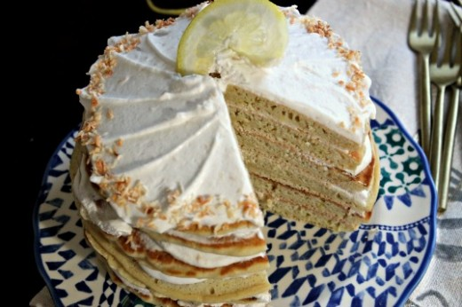 Lemon Coconut Cream Cake Recipe