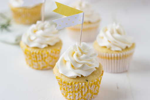 Meyer Lemon Rosemary Cupcakes