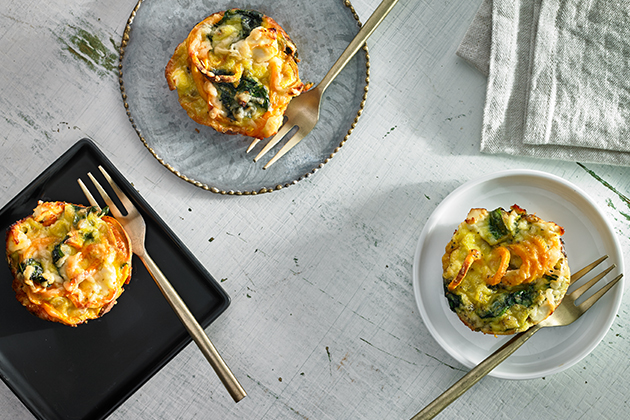 Mini Sweet Potato and Spinach Frittatas