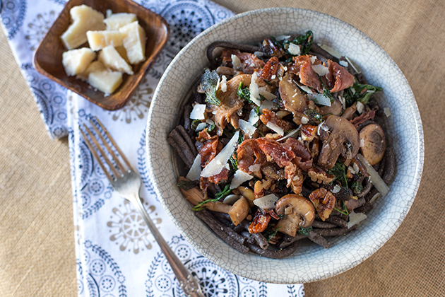 Buckwheat Bucatini & Truffled Wild Mushroom Sauce Recipe