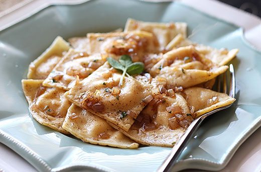 Pumpkin Ravioli with Browned Butter Sauce Recipe