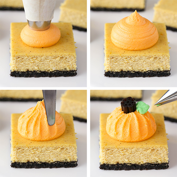 Halloween Party with Pumpkin Cheesecake Bars