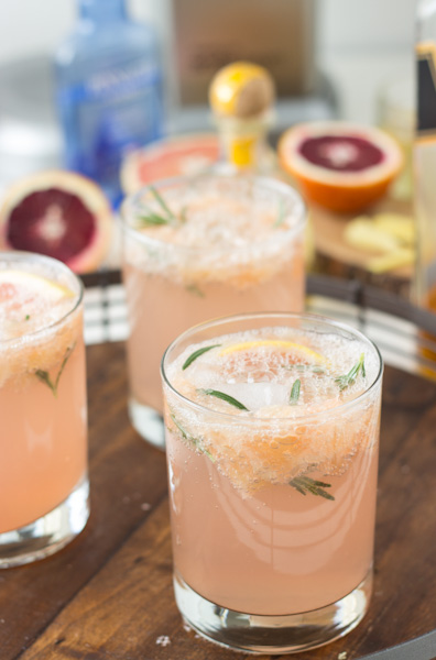 Sparkling Grapefruit Cocktails