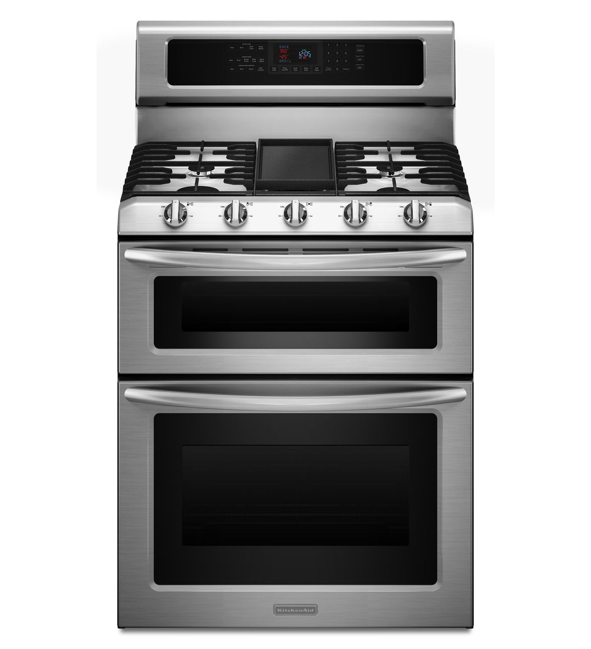 KitchenAid® Freestanding Double Oven Range with Even-Heat™ Convection
