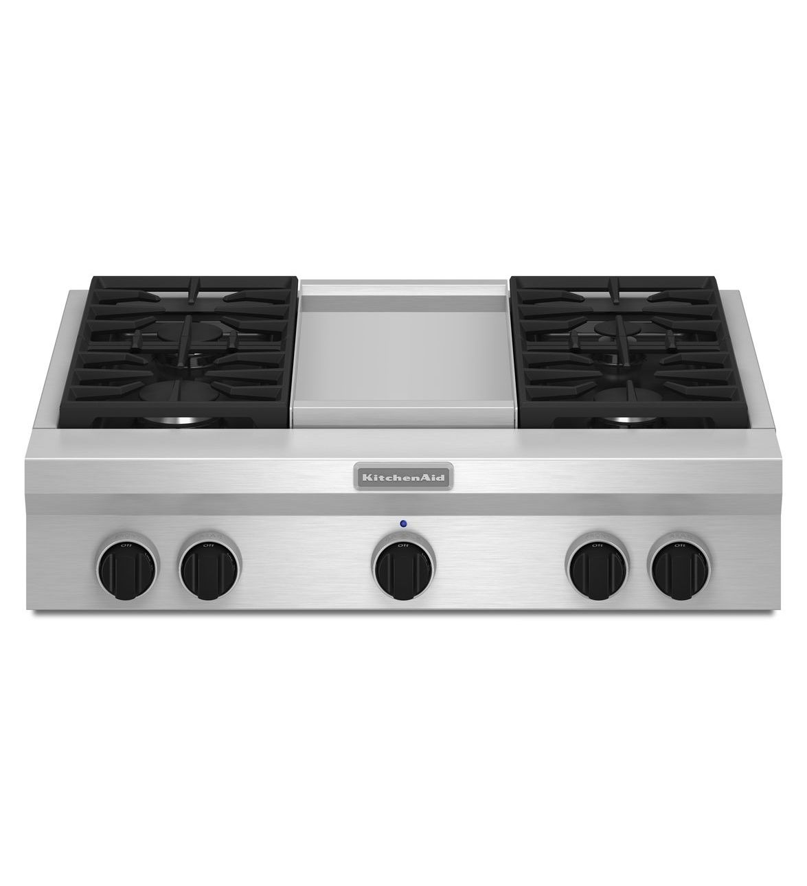 KitchenAid® 36-Inch 4 Burner with Griddle, Gas Rangetop, Commercial-Style