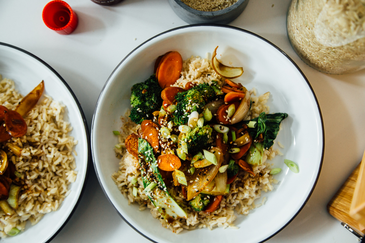 Sesame Vegetable Stir Fry