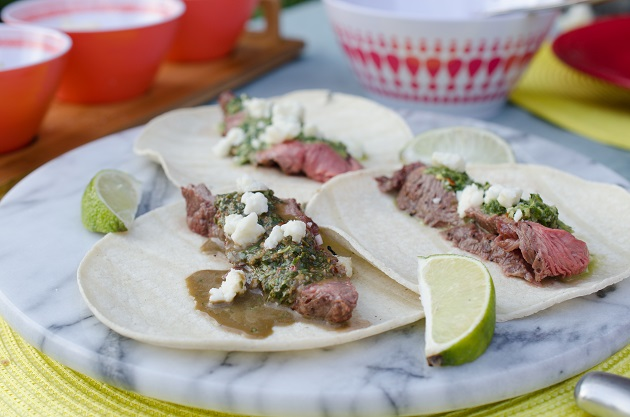 Steak Tacos with Chimichurri Recipe