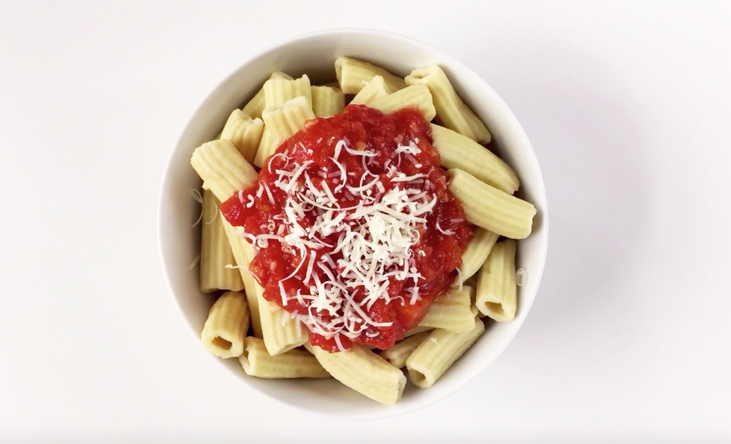 Homemade Rigatoni Pasta with Marinara Sauce | The Kitchenthusiast