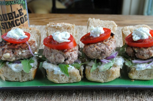 Turkey Souvlaki Sliders Burgers Recipe