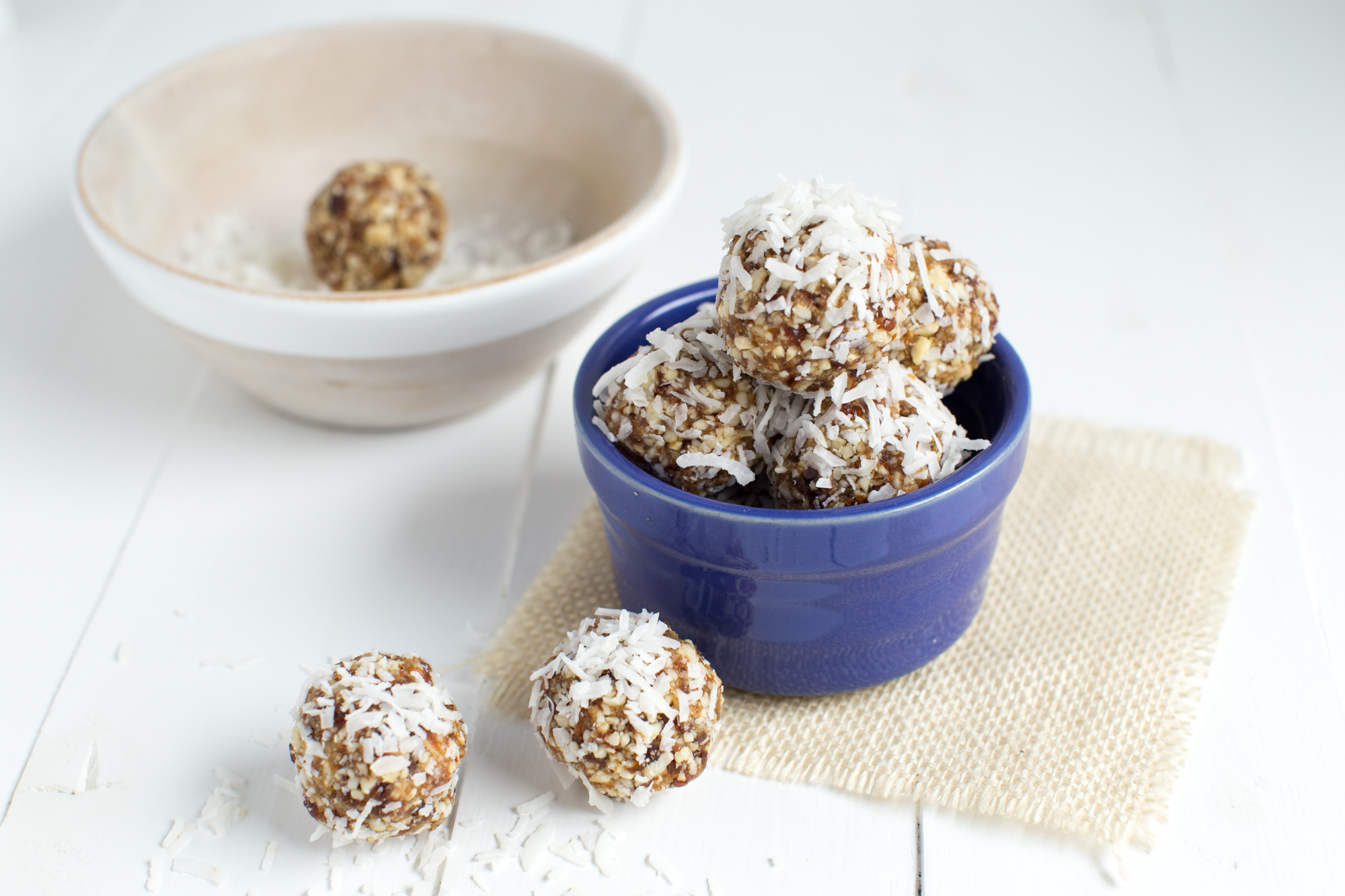 Vanilla Coconut Crunch Energy Bites