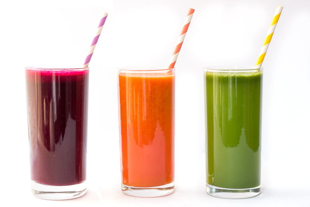 Colorful Detox Juices