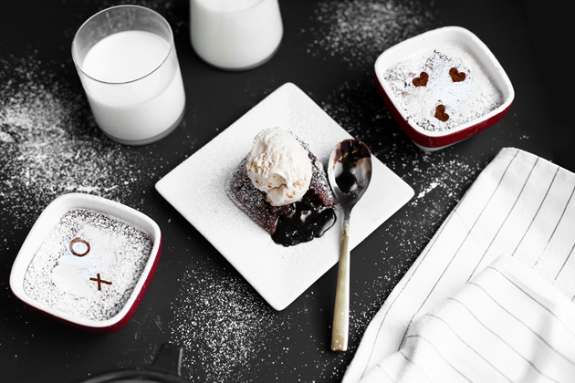 Nutella Sea Salt Molten Love Cakes