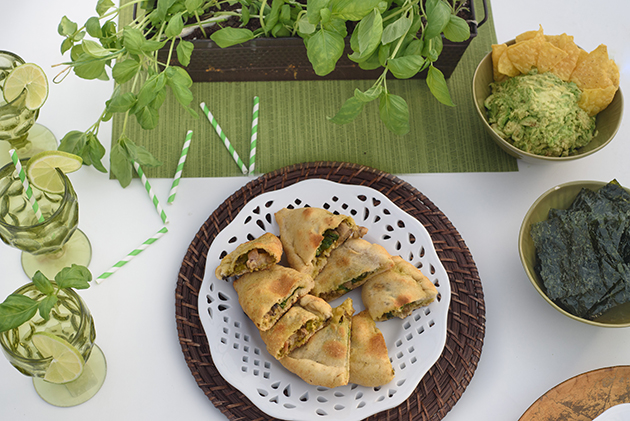 DIY Herb Centerpiece & Pesto Calzones