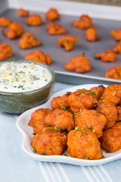 Buffalo Cauliflower Bites with Sriracha-Lime Sauce