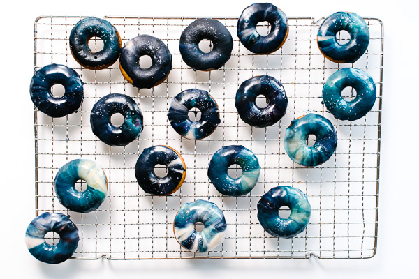 Galaxy Glazed Doughnuts