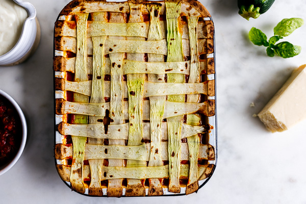 Herringbone Vegetable Lasagna