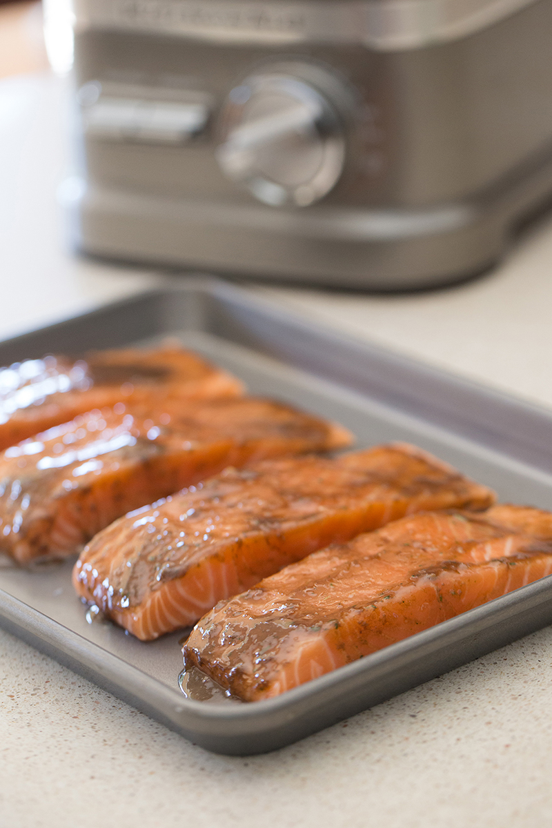 Honey Mustard Balsamic Roasted Salmon