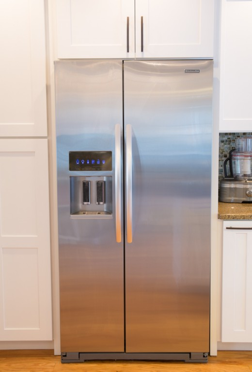 Kitchenaid Refrigerator Side By Side kitchenaid sidecounter depth refrigerator vs ge profile
