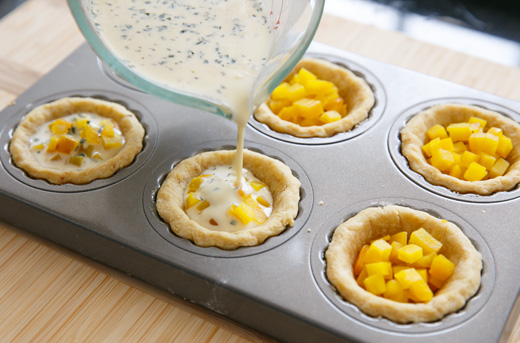 Bite-Sized Golden Beet and Goat Cheese Quiches Recipe