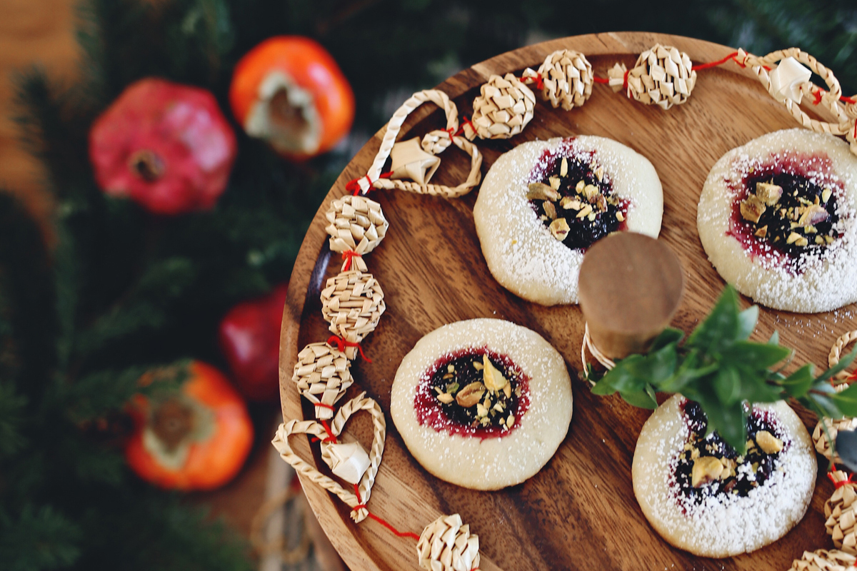 Mulled Blackberry Jam Thumbprint Cookies Recipe
