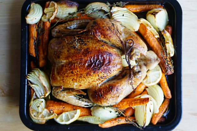 Lemon Thyme Roasted Chicken Recipe