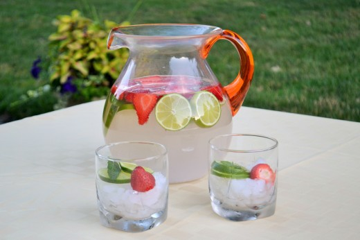 Strawberry Coconut Lime Spa Water Recipe
