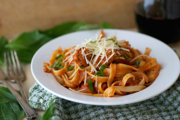 Homemade Spiced Chorizo Pasta