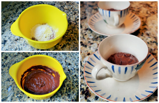 Chocolate Raspberry Mug Cake Microwave Recipe