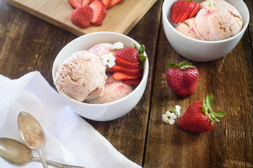 Strawberry Poppy Seed Ice Cream