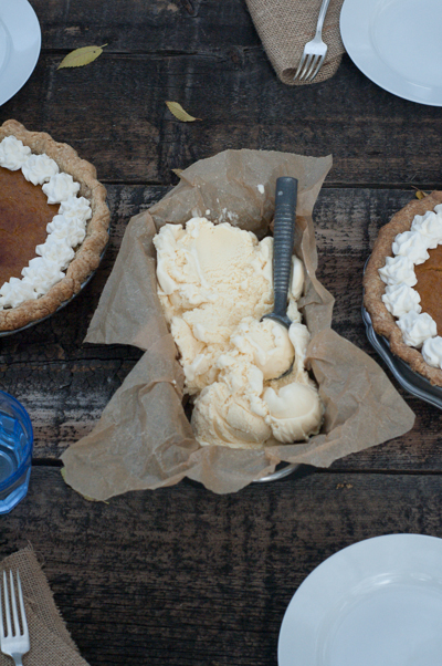 Homemade Pumpkin Pie and Ice Cream Recipe